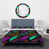 Designart 'Colour Retro Paint mark' Vintage Bedding Set - Duvet Cover & Shams