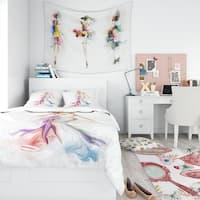 Designart - Beautiful Fashion Girl - Contemporary Duvet Cover Set