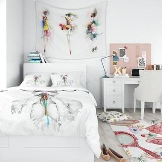 Designart 'Woman With Creative Bright Make Up' Portrait Bedding Set - Duvet Cover & Shams