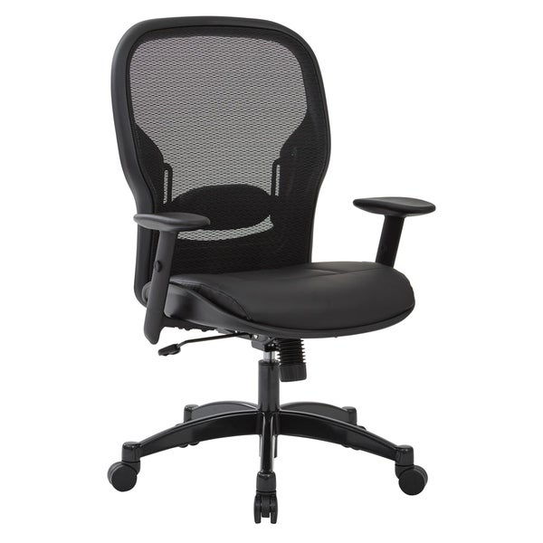Professional Breathable Mesh Office Chair with Bonded Leather Seat