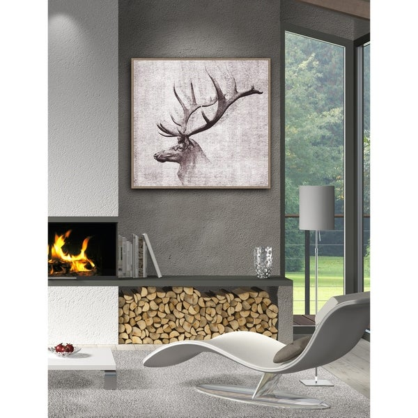Open Range Ii Framed Canvas Wall Art