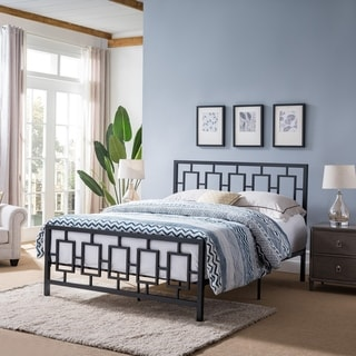 Claudia Modern Iron Queen Bed Frame by Christopher Knight Home