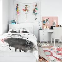 Designart - Elegant Girl - Glamour Duvet Cover Set