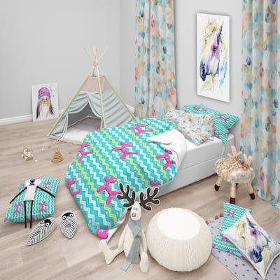 Designart 'Balloon seamless pattern' Abstract Bedding Set - Duvet Cover & Shams