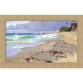Canvas Art Framed 'Weather Change' by Marcia Burtt: Outer Size 27 x 17-inch