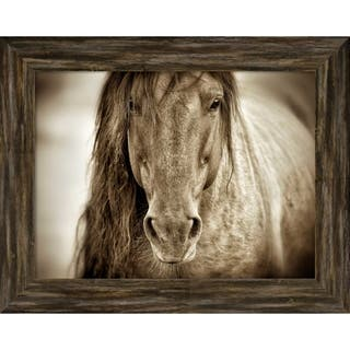Canvas Art Framed 'Mustang Sally' by Lisa Dearing: Outer Size 26 x 21-inch