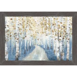 Canvas Art Framed 'New Path I' by Allison Pearce: Outer Size 27 x 19-inch