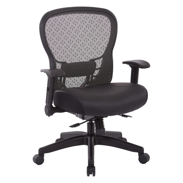 Office Chair with Memory Foam Bonded Leather Seat