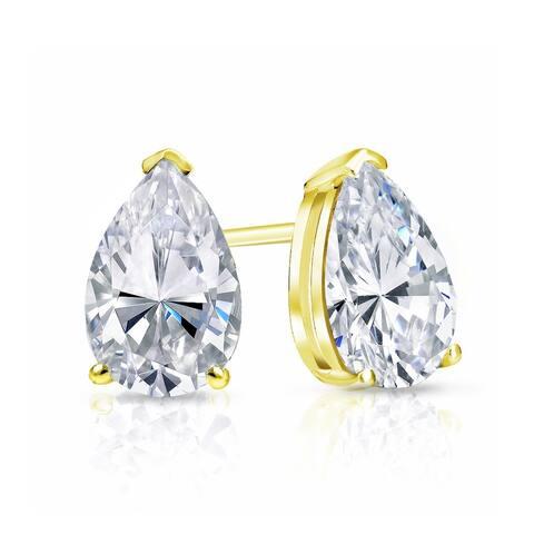 Auriya 2ctw Pear-cut Diamond Stud Earrings 14k Gold