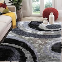 SAD 280 Gray Grey Area Rug Carpet 3D Shaggy Shag - 8' x 10'
