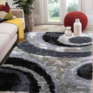 SAD 280 Gray Grey Area Rug Carpet 3D Shaggy Shag - 8' x 10'