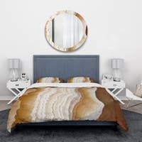 Designart 'Marbled Stone Layers' Abstract Bedding Set - Duvet Cover & Shams