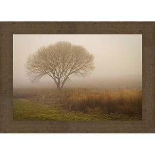 Tree In Field Framed Canvas Wall Art