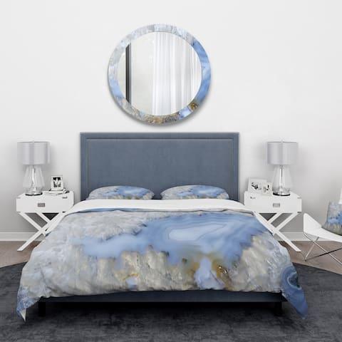 Designart 'Blue agate' Stone Bedding Set - Duvet Cover & Shams