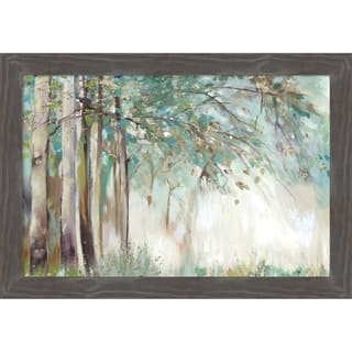 Canvas Art Framed 'Silver Leaves' by Allison Pearce: Outer Size 27 x 19-inch