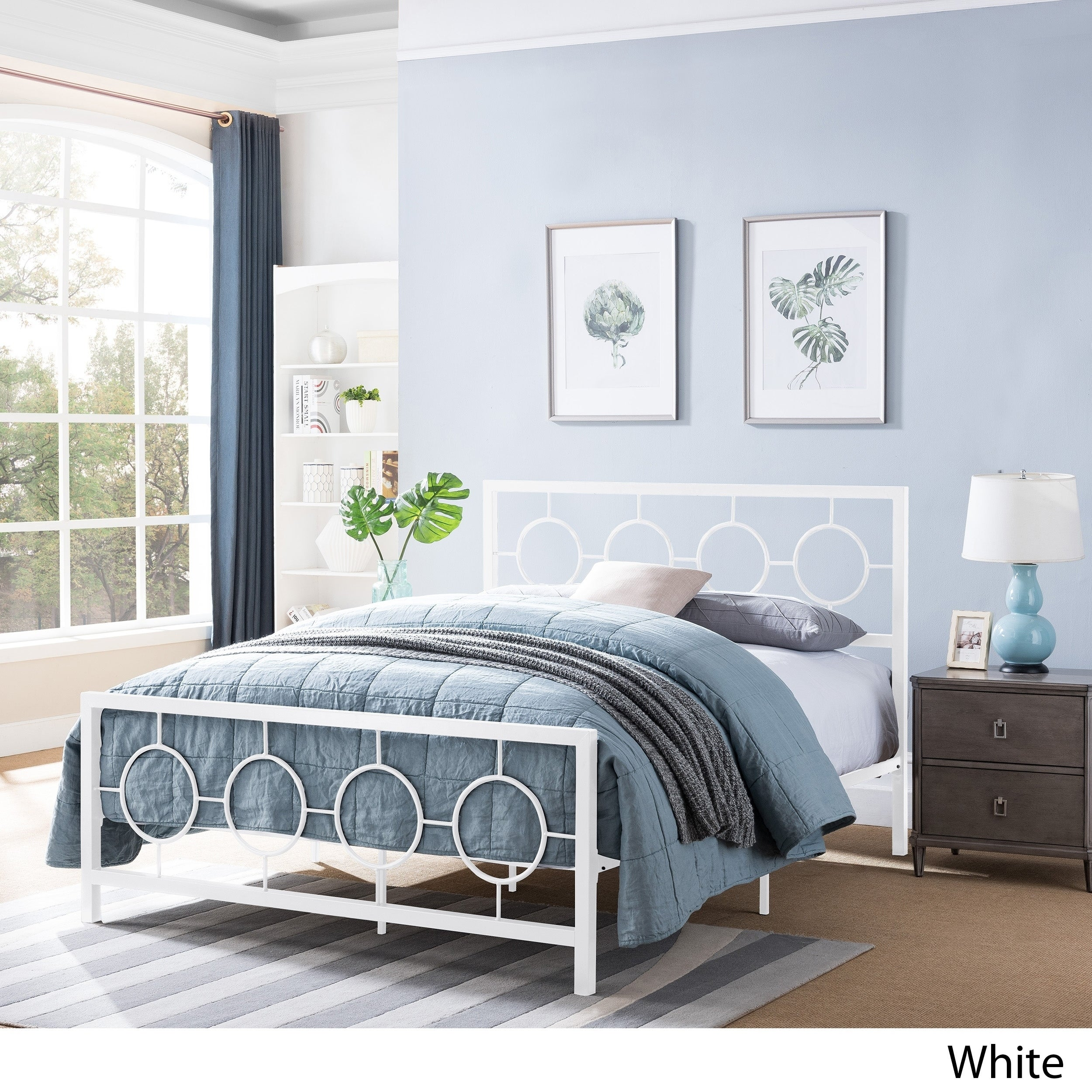 Francoise Low Profile Queen Size Platform Bed Frame By Christopher Knight Home