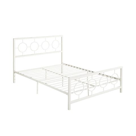 Francoise Low-Profile Queen-Size Platform Iron Bed Frame by Christopher Knight Home