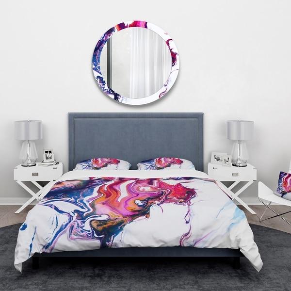 Shop Designart Purple Pink And Blue Marble Composition