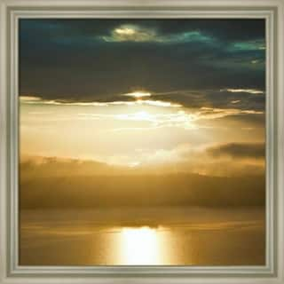 Canvas Art Framed 'Orcas Sunset 1' by Golie Miamee: Outer Size 20 x 20-inch