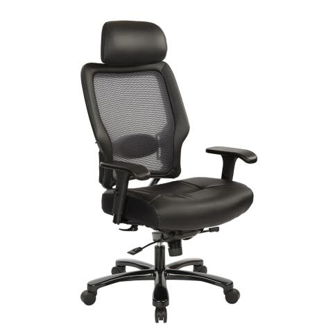 Executive Big and Tall Chair in Black Bonded Leather