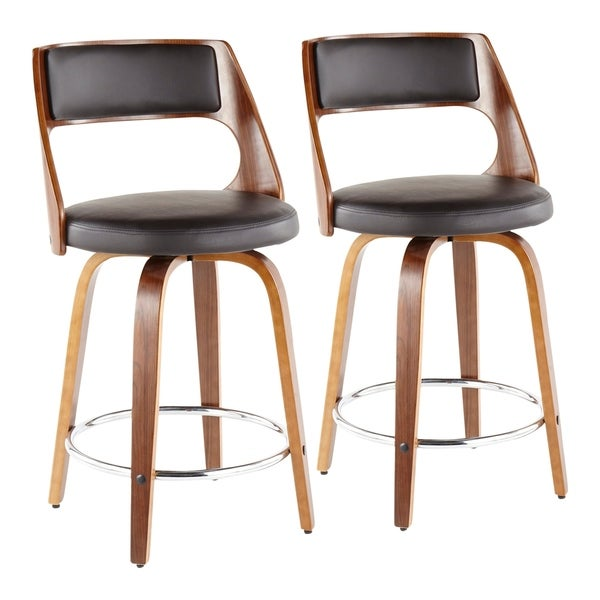 Carson Carrington Alingsas Mid-century Modern Counter Stool (Set of 2) - N/A. Opens flyout.