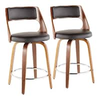 Carson Carrington Alingsas Mid-century Modern Counter Stool (Set of 2) - N/A