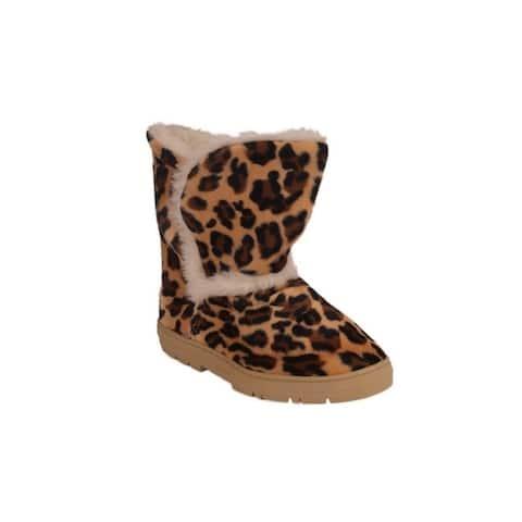 Leopard Print Boot Slipper