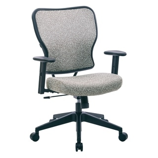 Deluxe Fabric 2 to 1 Mechanical Height Adjustable Arms Chair