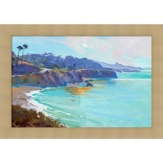Canvas Art Framed 'Mendocino Overlook' by Marcia Burtt: Outer Size 27 x 19-inch