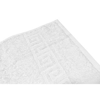 Solid White 6 piece 100% Cotton Hand Towel