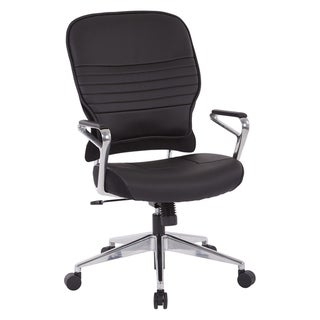 Bonded Leather Black Office Chair