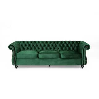 Somerville Chesterfield Tufted Velvet Sofa by Christopher Knight Home