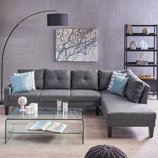 Fenmore Modern Fabric Chaise Sectional by Christopher Knight Home