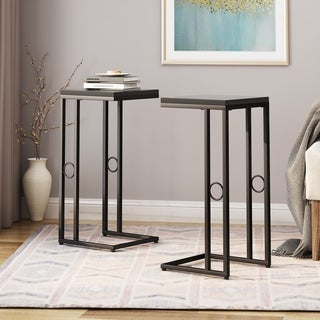 Link to Bader Modern C Side Table (Set of 2) by Christopher Knight Home Similar Items in Living Room Furniture