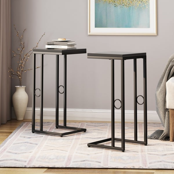 Bader Modern C Side Table (Set of 2) by Christopher Knight Home. Opens flyout.