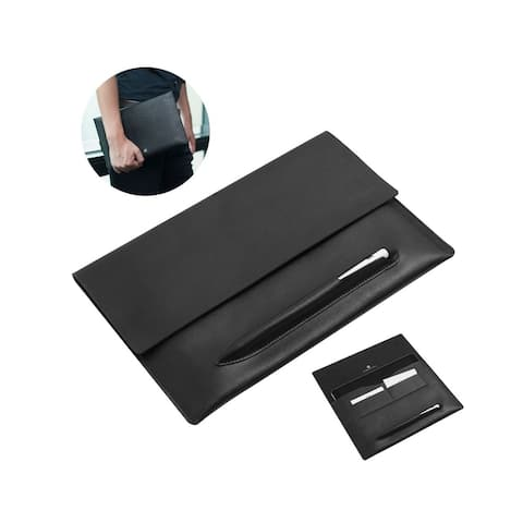 "Cobble Pro Black Genuine Leather Carrying Case with Apple Pencil Holder and Card Pockets for Apple iPad Pro 10.5"" / iPad 10.2"""