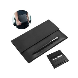 Cobble Pro Black Genuine Leather Protective Carrying Case with Apple Pencil Holder and Card Pockets for Apple iPad Pro 10.5""
