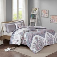 Intelligent Design Cynthia Lilac Printed Comforter Set