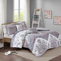 Intelligent Design Cynthia Lilac Printed Comforter Set