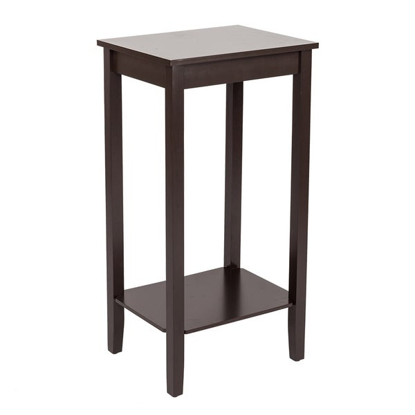 Home Funiture High-footed Coffee Side Table 2-Tier Square End Table