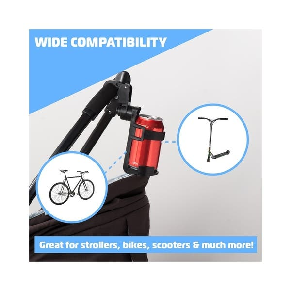 Universal Stroller Cup Holder Adjustable Bottle Holder 360/° Rotation Water Bottle Organizer Drink Coffee Cup Holder Cycling Bottle Cages,Fits for Bike,Bicycles,Baby Pram,Buggy,Pushchair Wheelchair