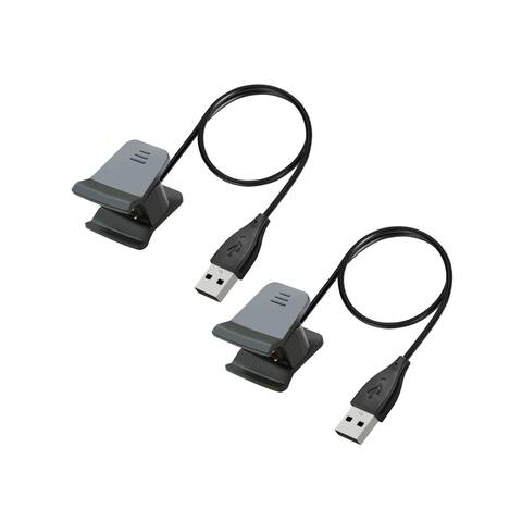 Fitbit Alta HR Charger, INSTEN 1 Feet USB Replacement Charging Cable Cord for Fitbit Alta HR 2017 (Set of 2) - Black