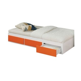 ACME Lawson Trundle with 3 Drawers in White and Orange