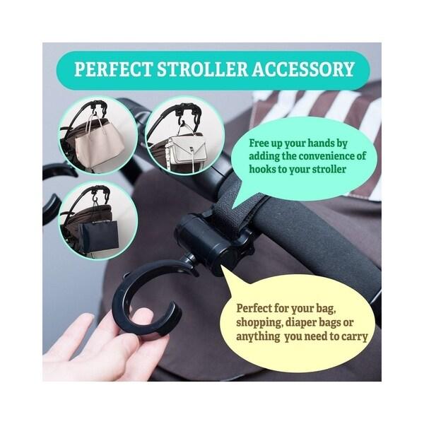 2 Pack of Multi Purpose Hooks Stroller Hook Hanger for Baby Diaper Bags LOOK