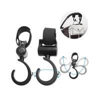 Baby Stroller Hooks, INSTEN 2-Pack Durable Multi Purpose Stroller Hook/ Diaper Bag Hanger (22lb Capacity, 360-Degree Adjustable)