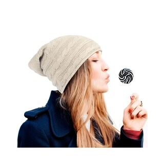 Zodaca Unisex Winter Thick Slouchy Cable Knit Beanie for Men and Women