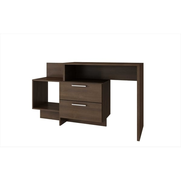 HomeRoots Furniture Teramo Home Desk with 1 Shelf in Tobacco