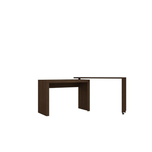 HomeRoots Furniture Innovative Calabria Nested Desk in Tobacco