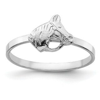 Versil Sterling Silver Rhodium-plated Child's Polished Horse Ring