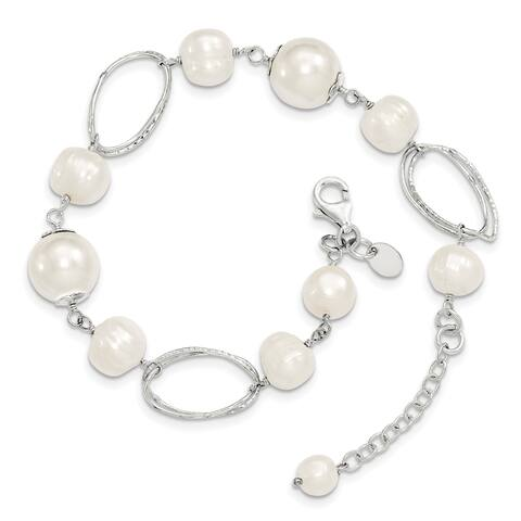 Sterling Silver Freshwater Cultured Pearl 8.5 Inch Bracelet by Versil